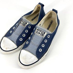 Converse All Star | Striped No Laces Shoes Size 6